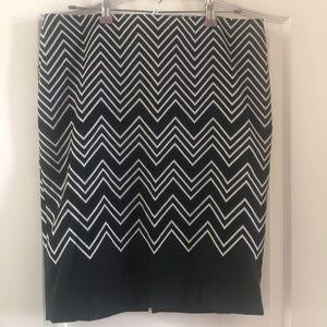 White House Black Market chevron skirt 10
